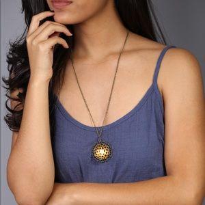 Long Flower Pendant Necklace